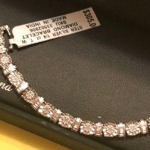 Sterling Silver Tennis Bracelet with 1/4 Karat Dia